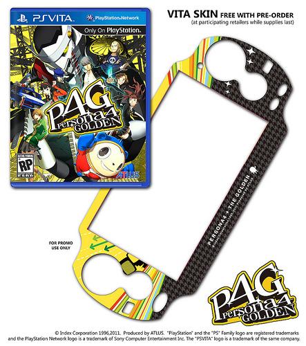 Persona 4 Golden Pre-Orders Include PS Vita Skin   XTREME PSVita