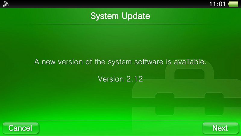 PS Vita System Software 2.12