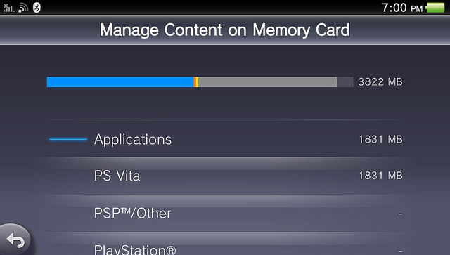 PS Vita v3.10 - App Management