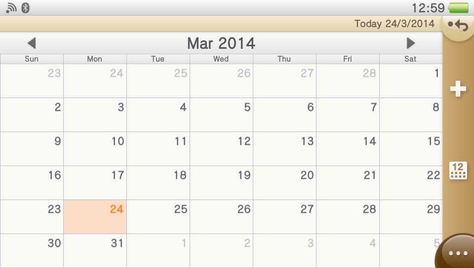 PS Vita v3.10 - Calendar