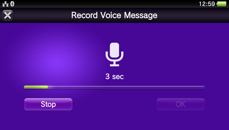 PS Vita v3.10 - Voice Recording